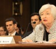 Federal Reserve Board Chairwoman Janet Yellen testifies during a Senate Banking, Housing and Urban Affairs Committee hearing in Washington, D.C. on July 15, 2014.