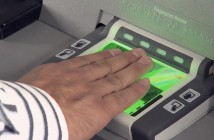 The Global Entry kiosk reads your fingerprints electronically.