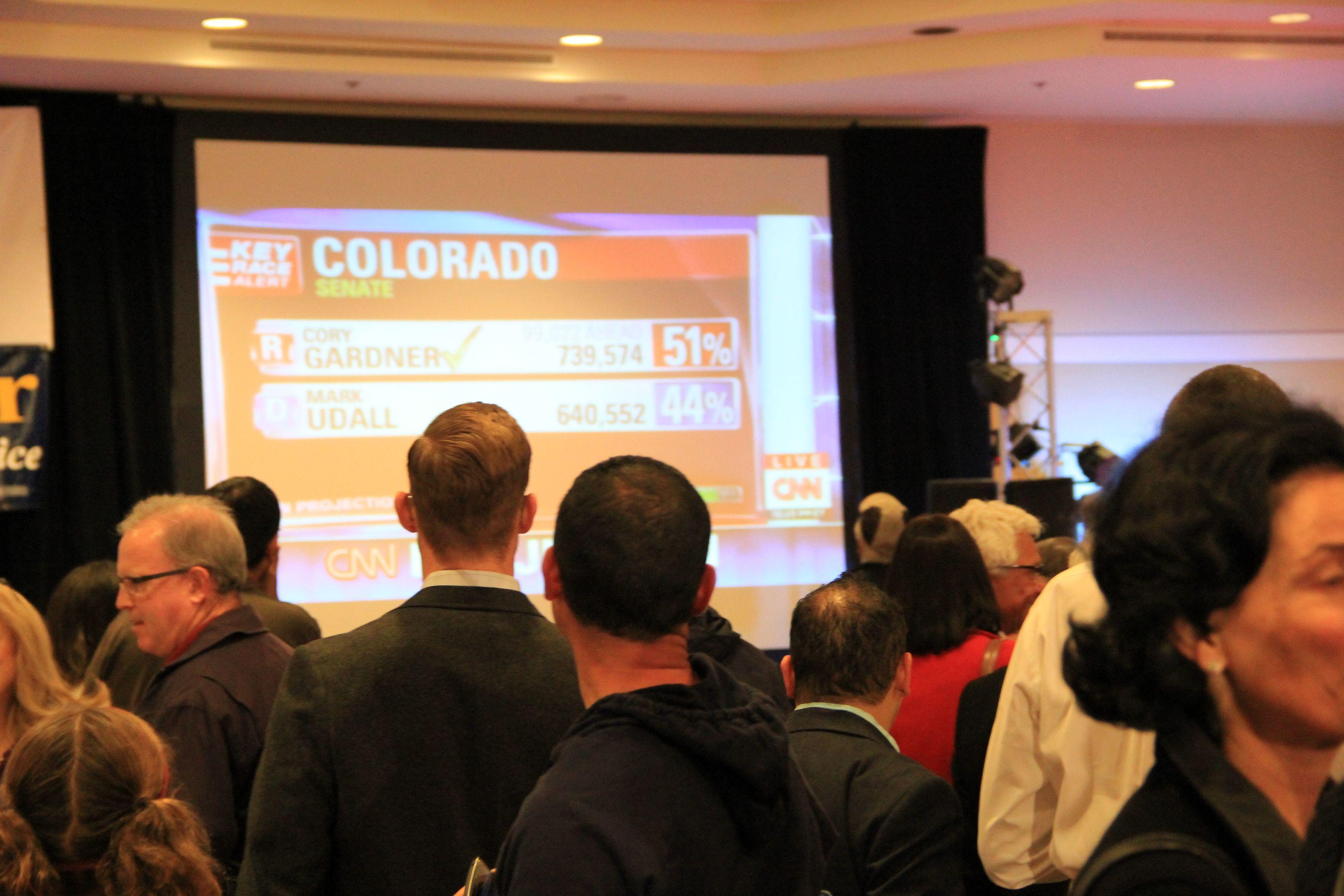 Denver Democrats party on amid gloom over Senate defeat in Colorado