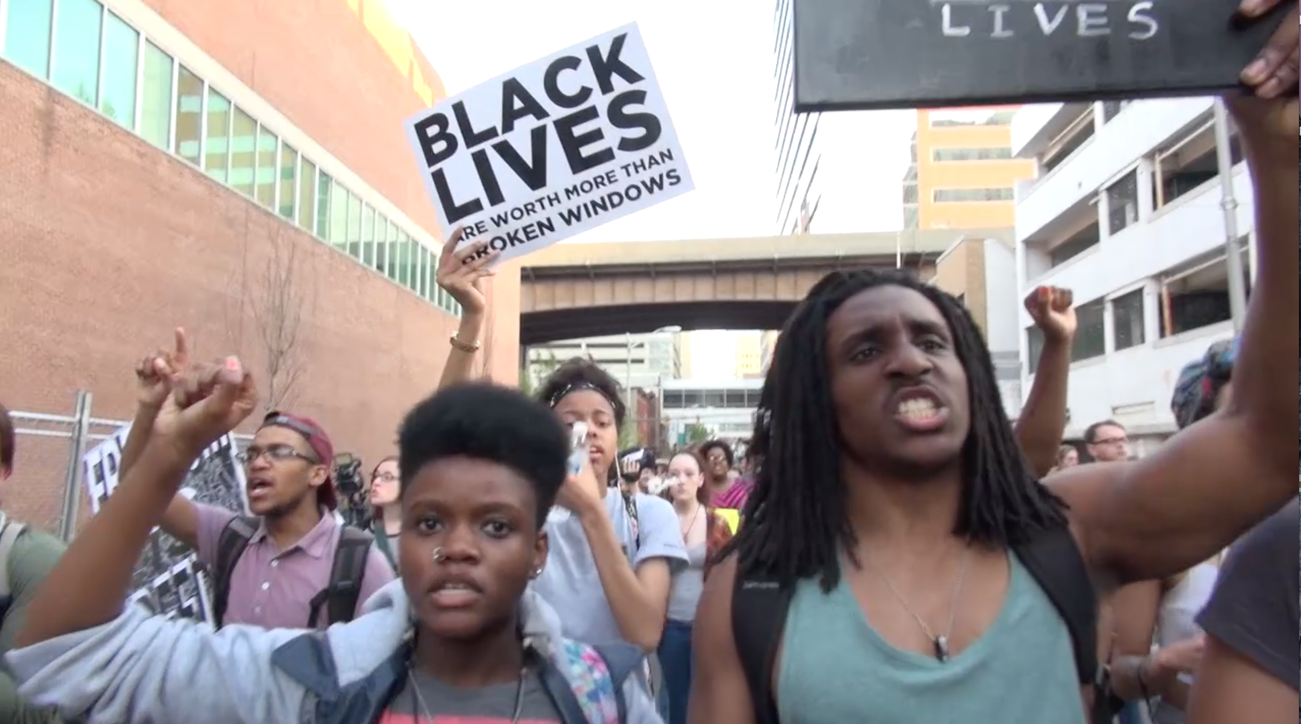 Thousands march in support of Freddie Gray in Baltimore