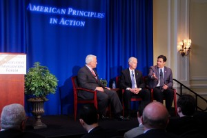 Republican representatives accuse Democrats of shutting down the conversation with them at a conservative immigration forum held by a nonprofit, American Principles in Action. (Andersen Xia/Medill)