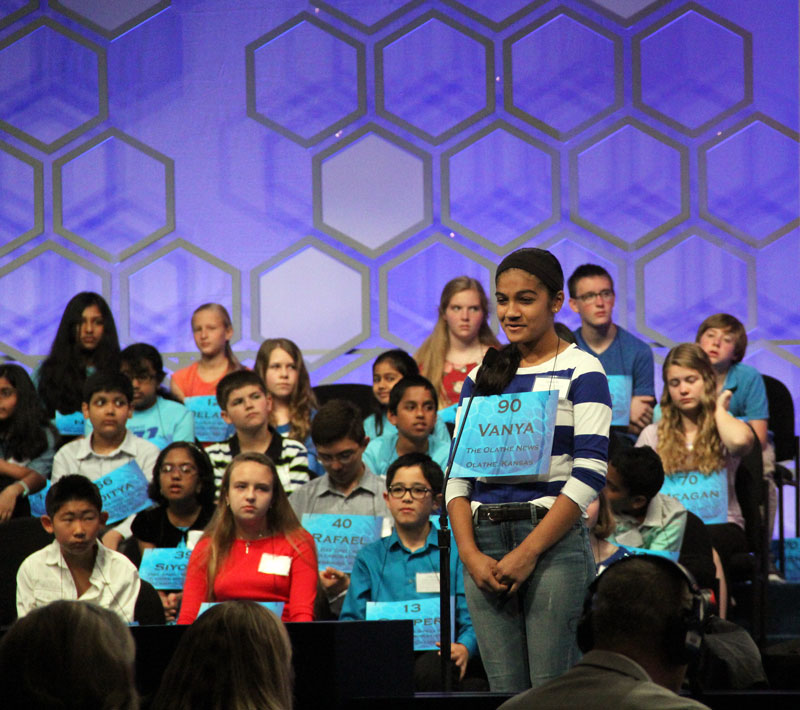 At the National Spelling Bee, Olathe's Vanya Shivashankar advances to the semifinals