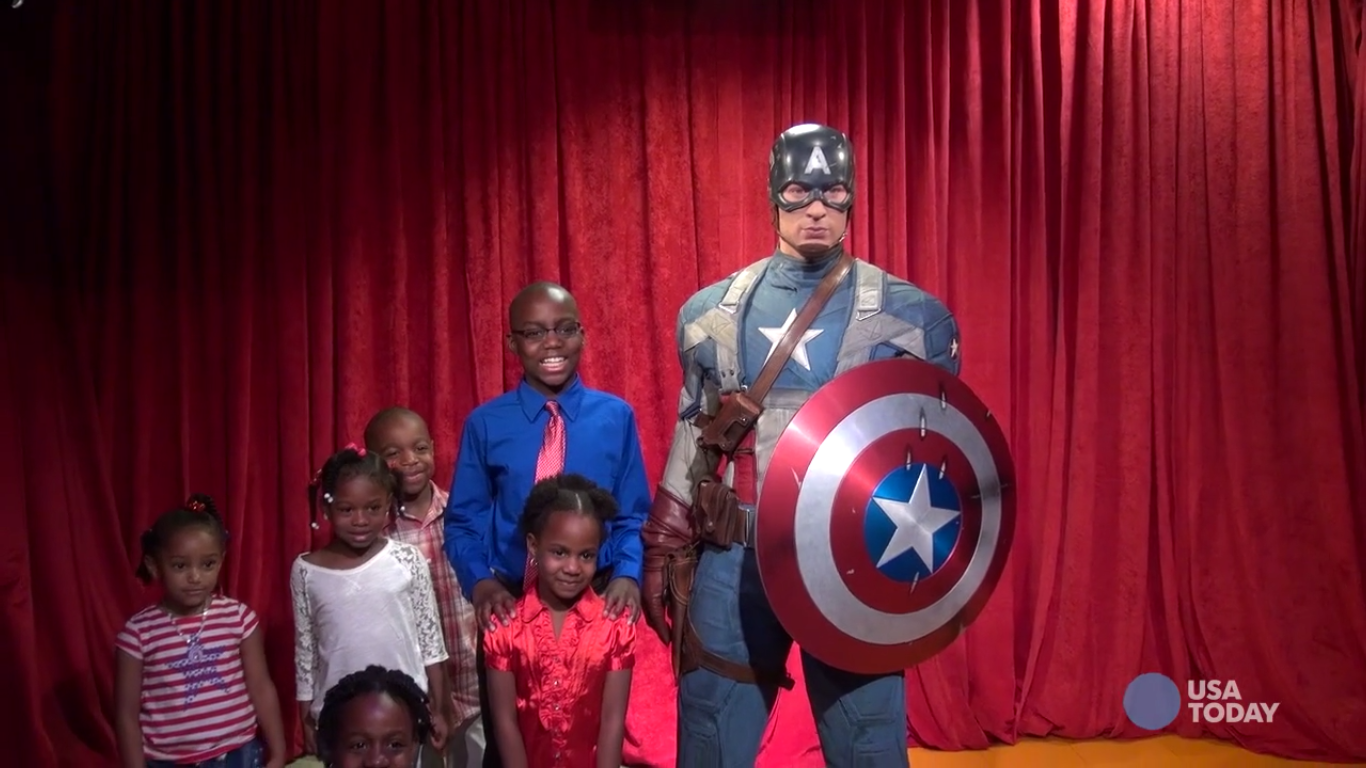 Captain America wax figure unveiled