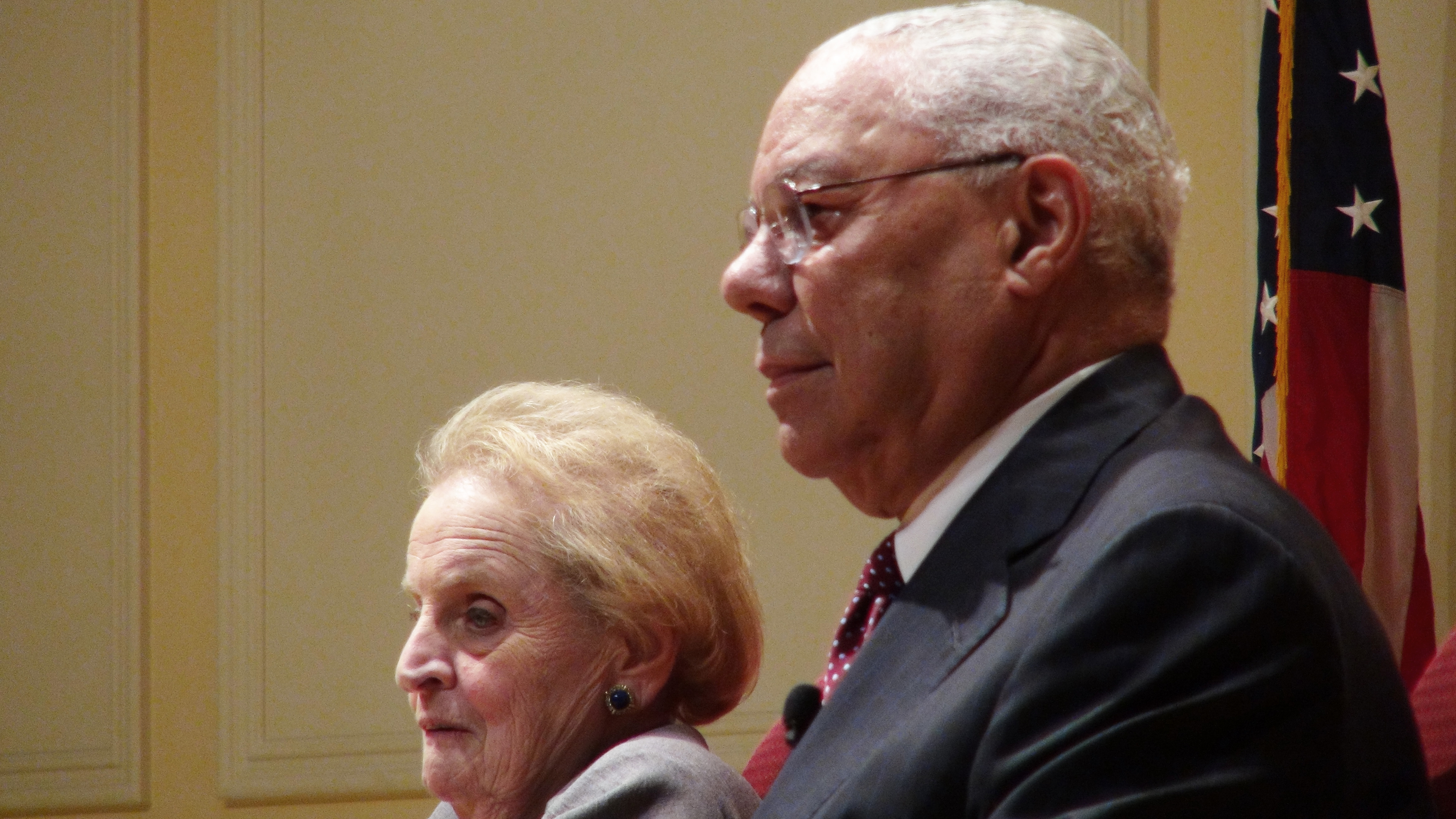 Albright, Powell Discuss U.S. Negotiations With Iran