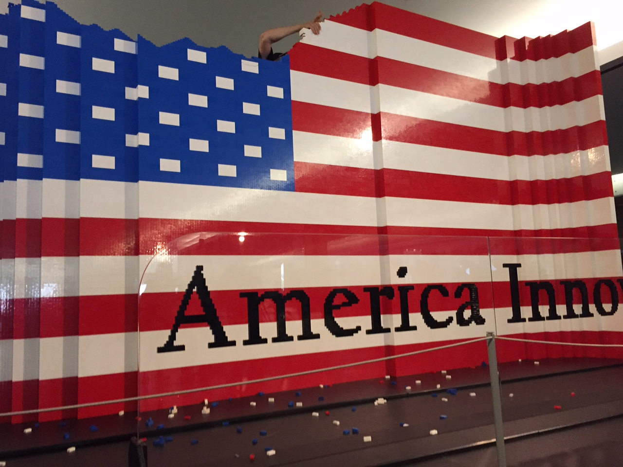 Gigantic Lego American flag built at Smithsonian