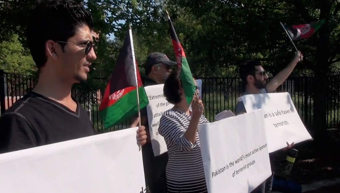 Afghan Americans protest Pakistan's state support of terrorism