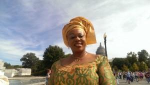 Pope speech crowd Nigerian woman