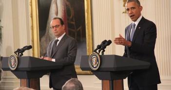 Hollande and Obama  Sean Froelich/Medill News Service