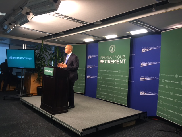 Senator Booker to millennials: Start financial planning early