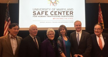 From L-R: Wallace D. Loh, President, University of Maryland, College Park; Sen. Ben Cardin; Nancy Kopp, Maryland State Treasurer; Susan Esserman, SAFE Center Director; Rep. Chris Van Hollen; Jay A. Perman, President, University of Maryland, Baltimore at the opening of the SAFE Center, University of Maryland, College Park May 9, 2016. (Meggie Morris/MNS)
