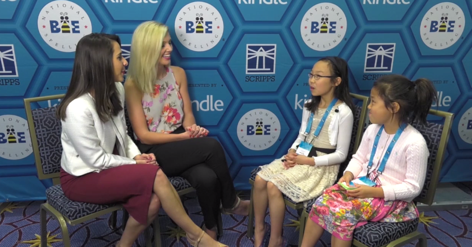 Siblings of National Spelling Bee participants chat with Medill Reporters