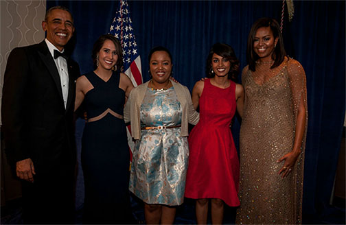 Medill grad students meet Obamas at White House Correspondents' dinner