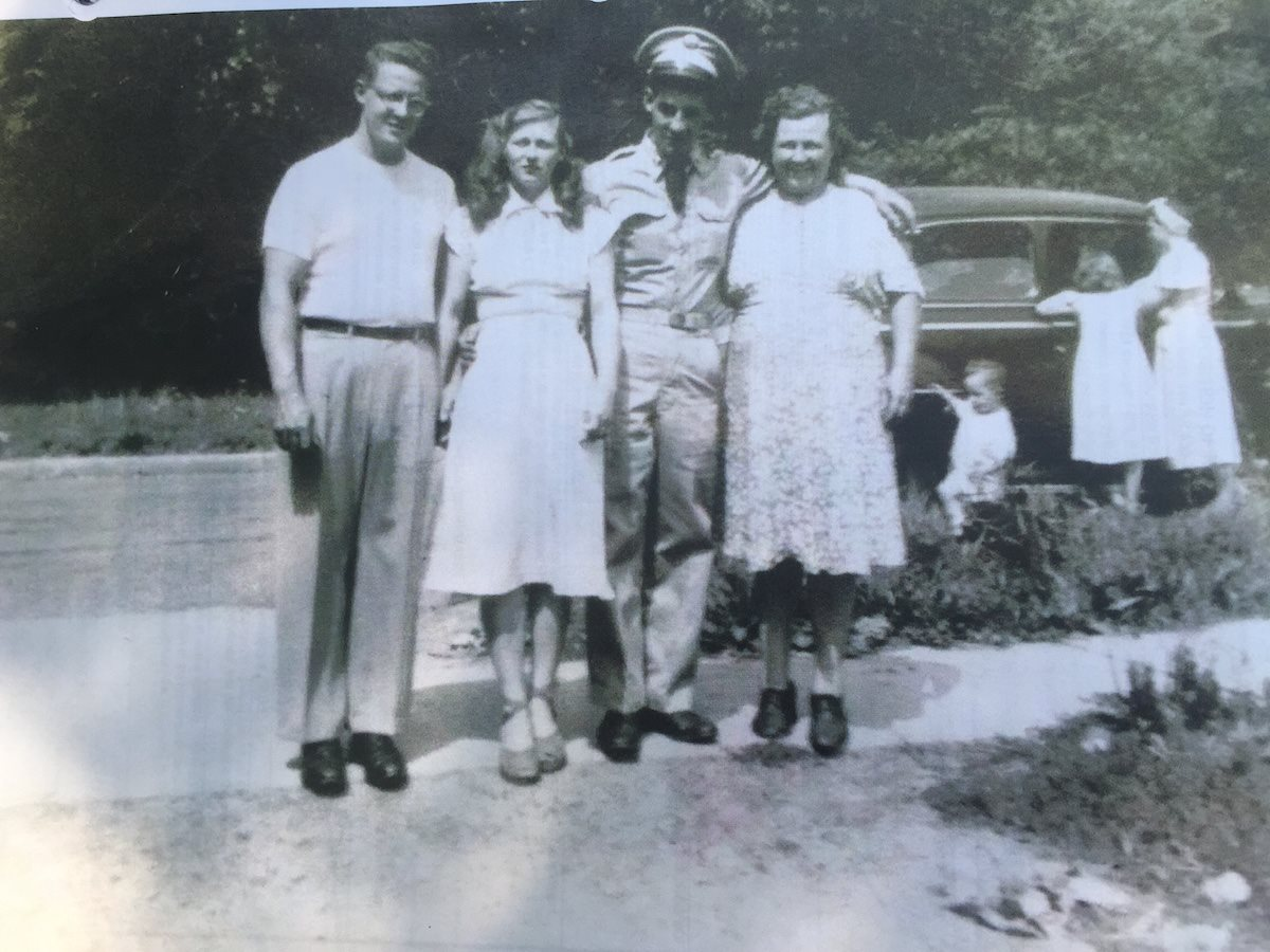 George Paul Grifford (second from the right) poses with his family before leaving for Korea to serve as a member of the 37th Field Artillery Battalion, 2nd Infantry Division. He died in a prison camp in North Korea after being captured by the enemy forces during the Korean War. (Photo: Courtesy photo)
