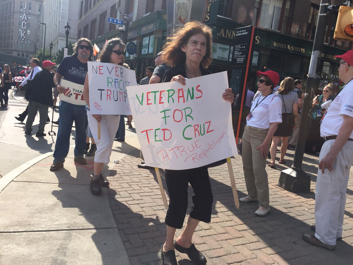 Texas native Barbara Peters traveled to the Republican National Convention with a group called CRUZ to Cleveland Convention. (Photo: Michelle R. Martinelli/Special to USA TODAY)
