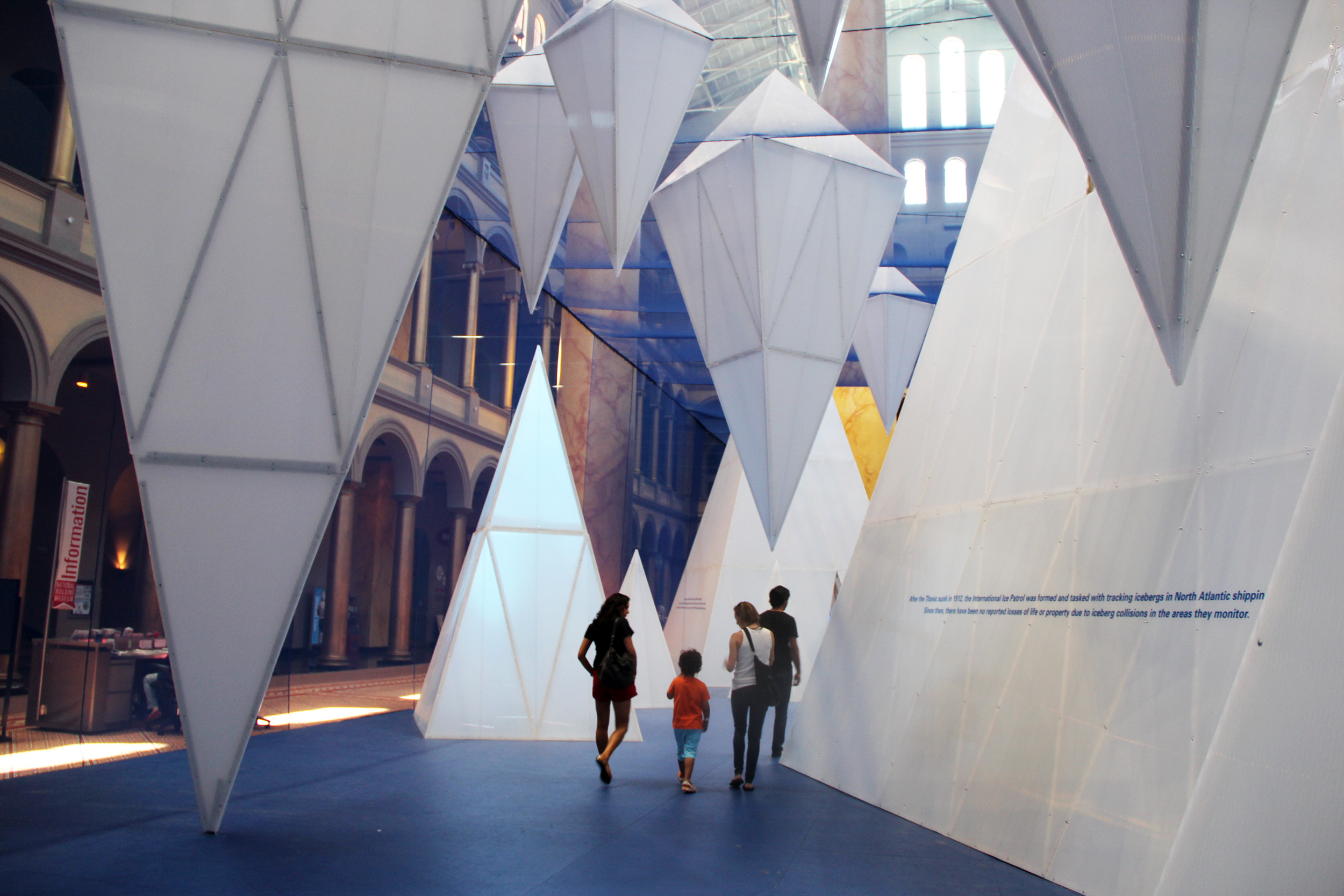 "National Building Museum moves from ""Beach"" to ""Icebergs"" in summer exhibit"