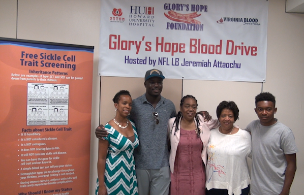San Diego Chargers' Jeremiah Attaochu hosts first blood drive in hometown