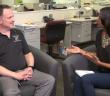 Hannah interviewing Jereme Davis