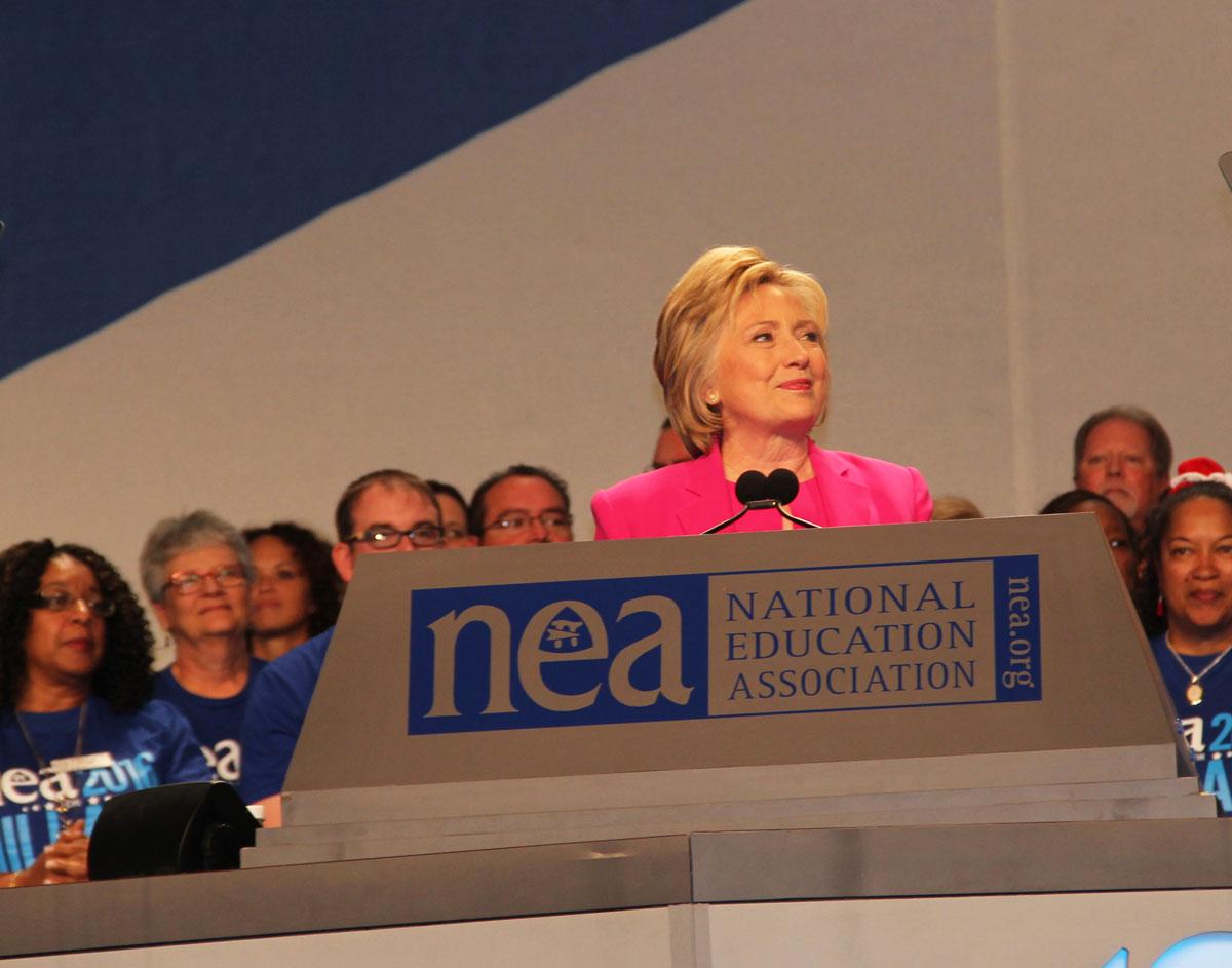 Hillary Clinton Promises Teachers Higher Pay