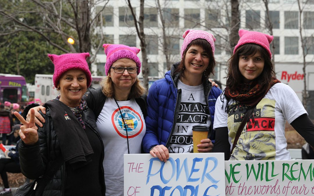 Washington women join Women's March in D.C.