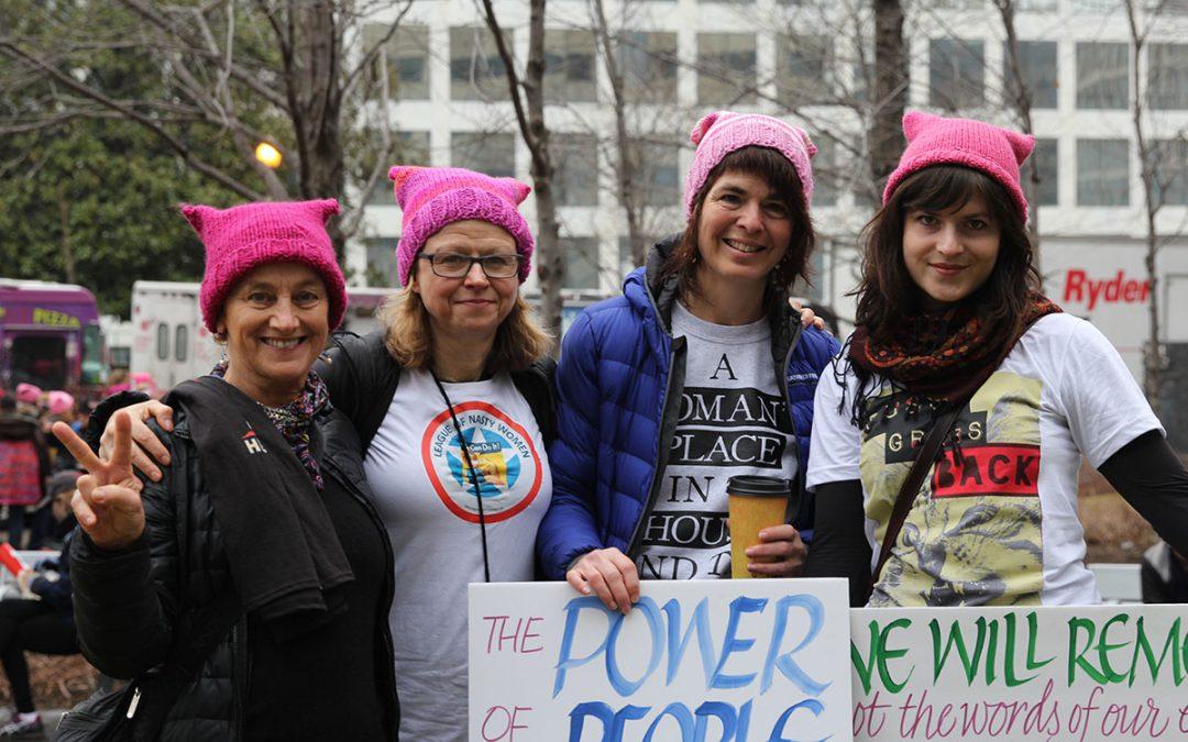 Washington women join Women's March in D.C.