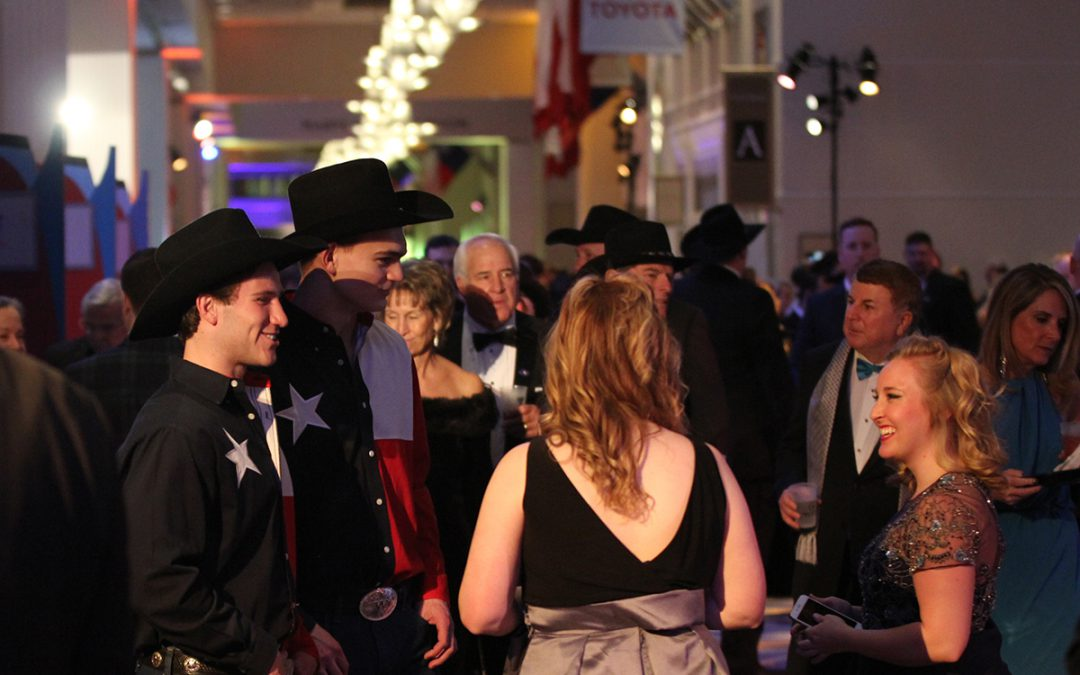 Texans celebrate the inauguration at the Boots and Black Tie Ball