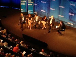 panel journalist newseum jim acosta julie pace charlie spiering kriten glenn thrush