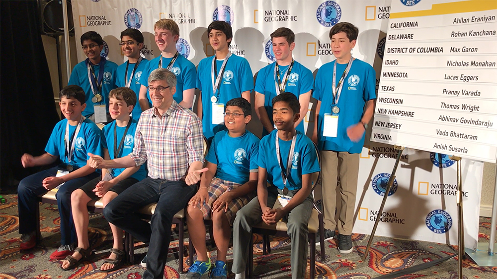 Top 10 Selected for National Geographic Bee
