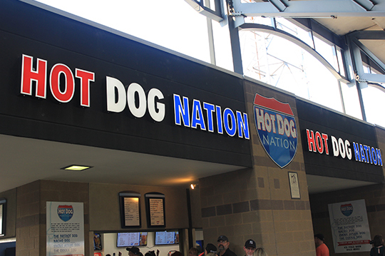 The only place you need to go to get the Harbor Park's signature hot dogs.