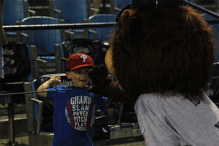 "Well this kid sure doesn't think so. ""Hey Bucky, high five."""