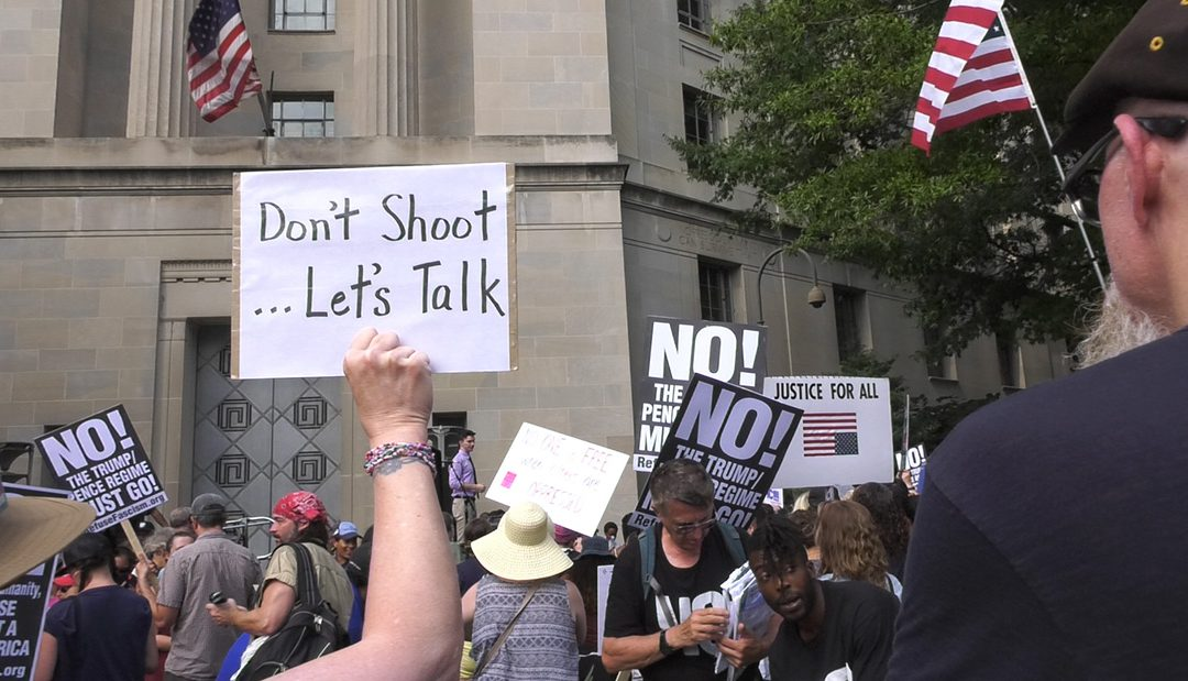 GUN LAW REFORM ACTIVISTS PROTEST NRA