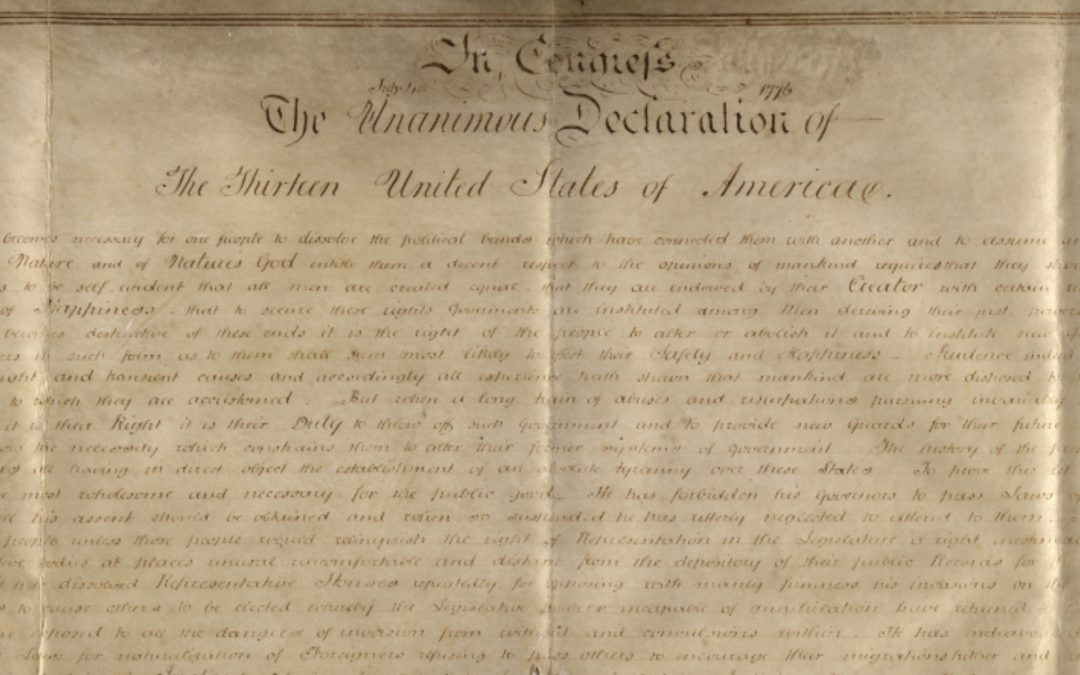 How Did a Copy of the Declaration of Independence End Up in England?
