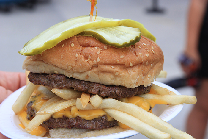The infamous Homerunner Burger. I still want to know what's in the special sauce.