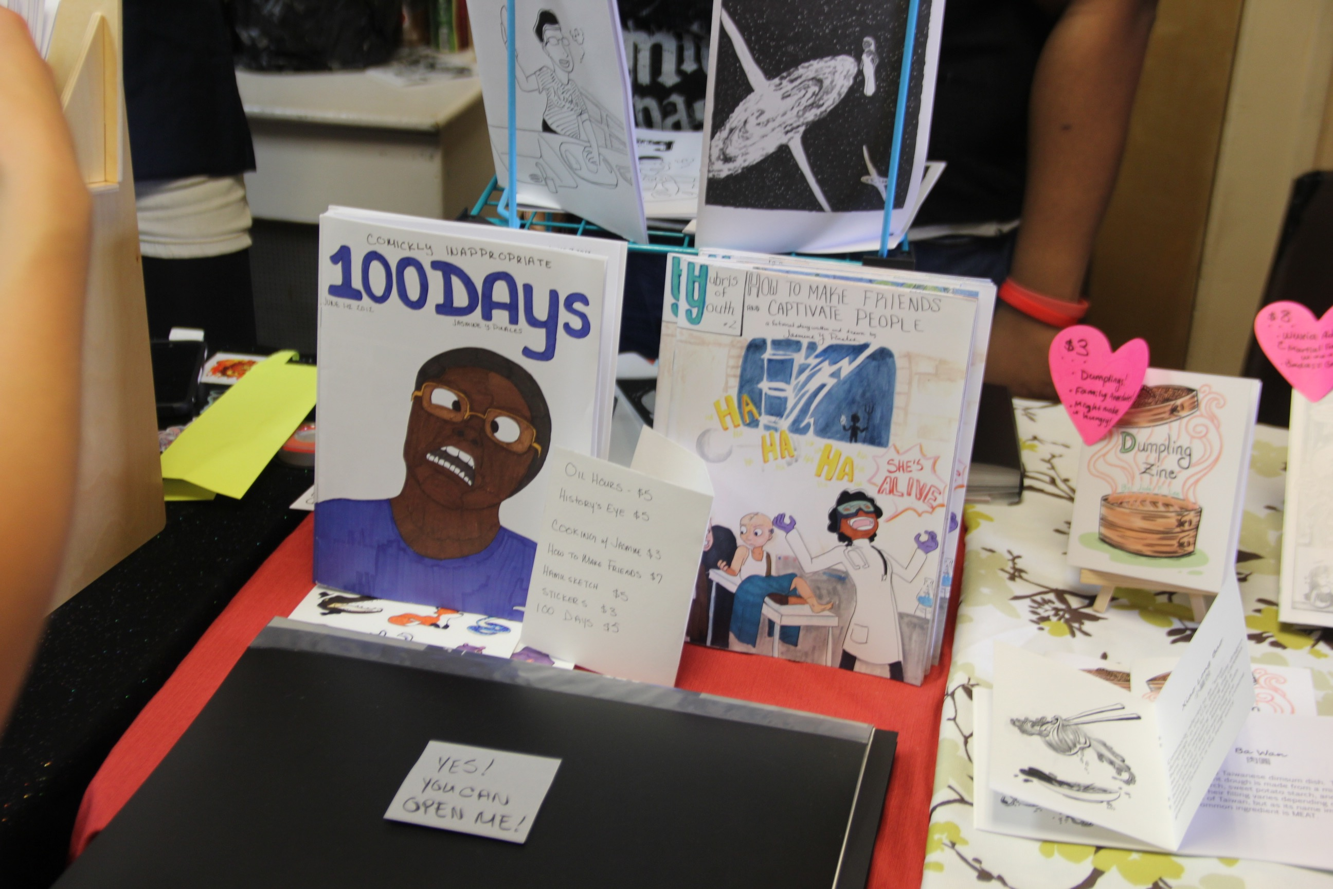 Zinester Jasmine Pinales created the first version of 100 Days, a comic book style zine, in 2012.