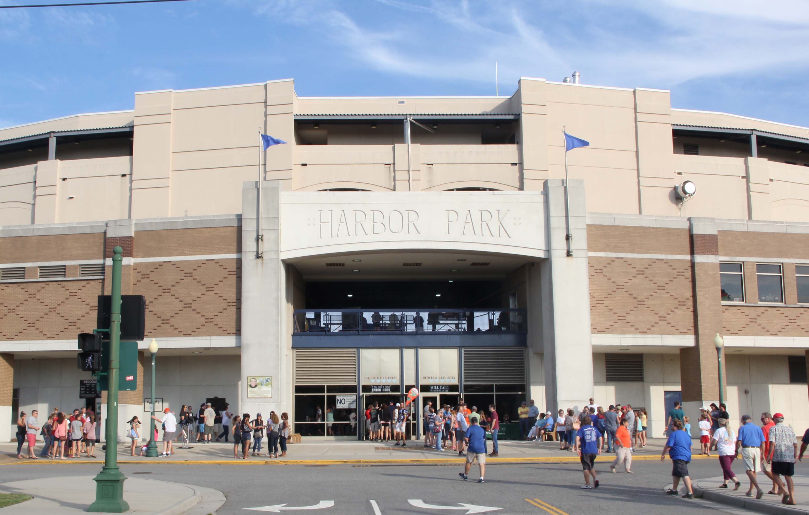 Harbor Park is home to the Triple A Norfolk Tides. (MEDILL/Jenna West)
