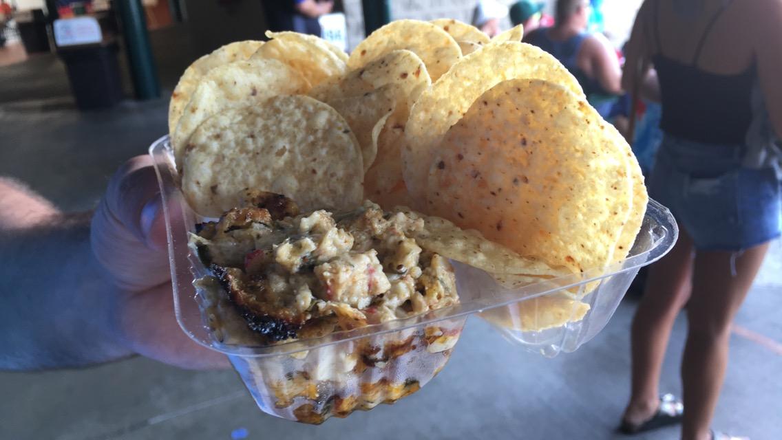 Baysox Crab Dip & Chips