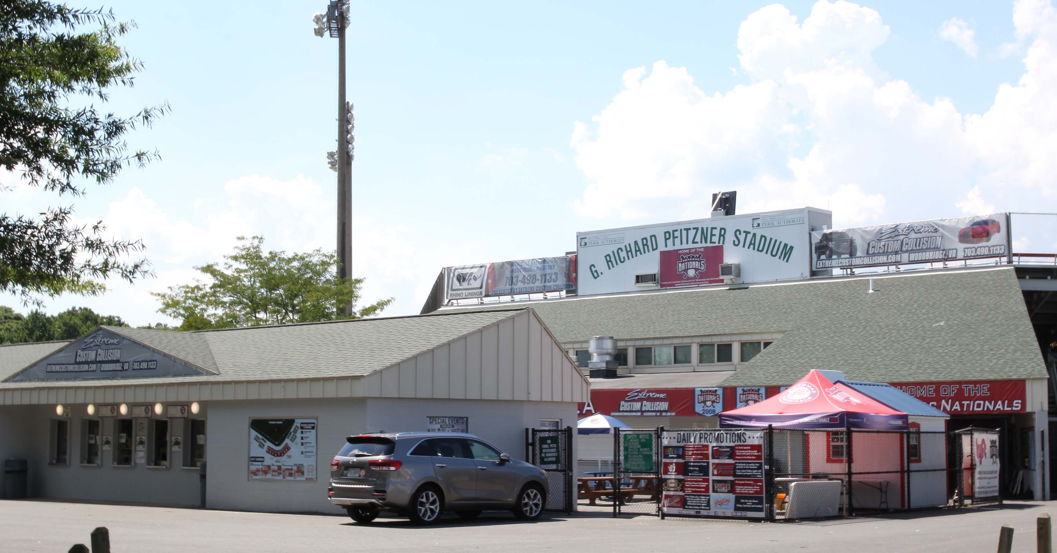Pfitzner Stadium is home to the Class A Advanced Potomac Nationals. (MEDILL/Jenna West)