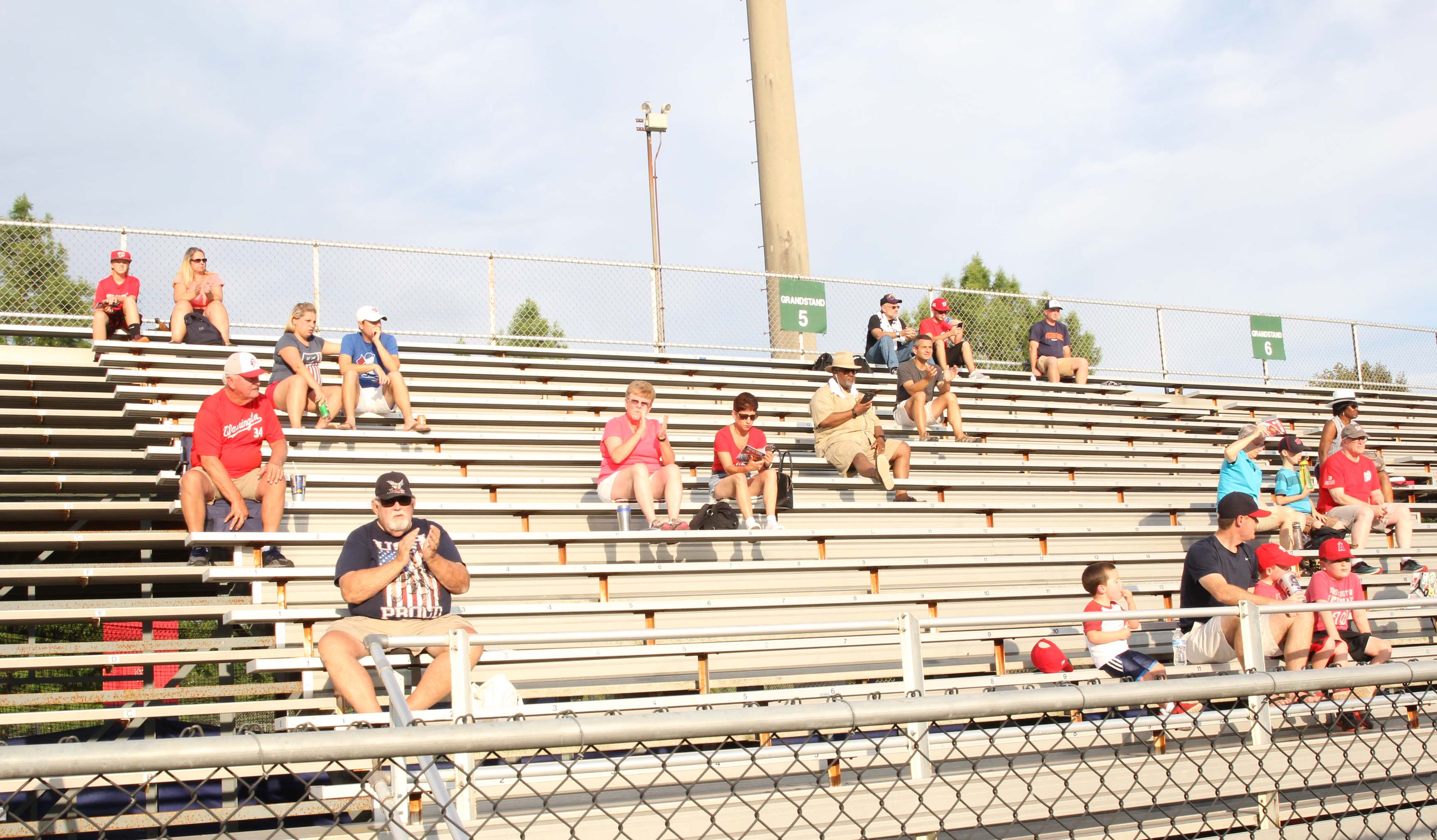 Most of Pfitzner Stadium's seats are bleachers, an outdated trend in ballparks. (MEDILL/Jenna West)