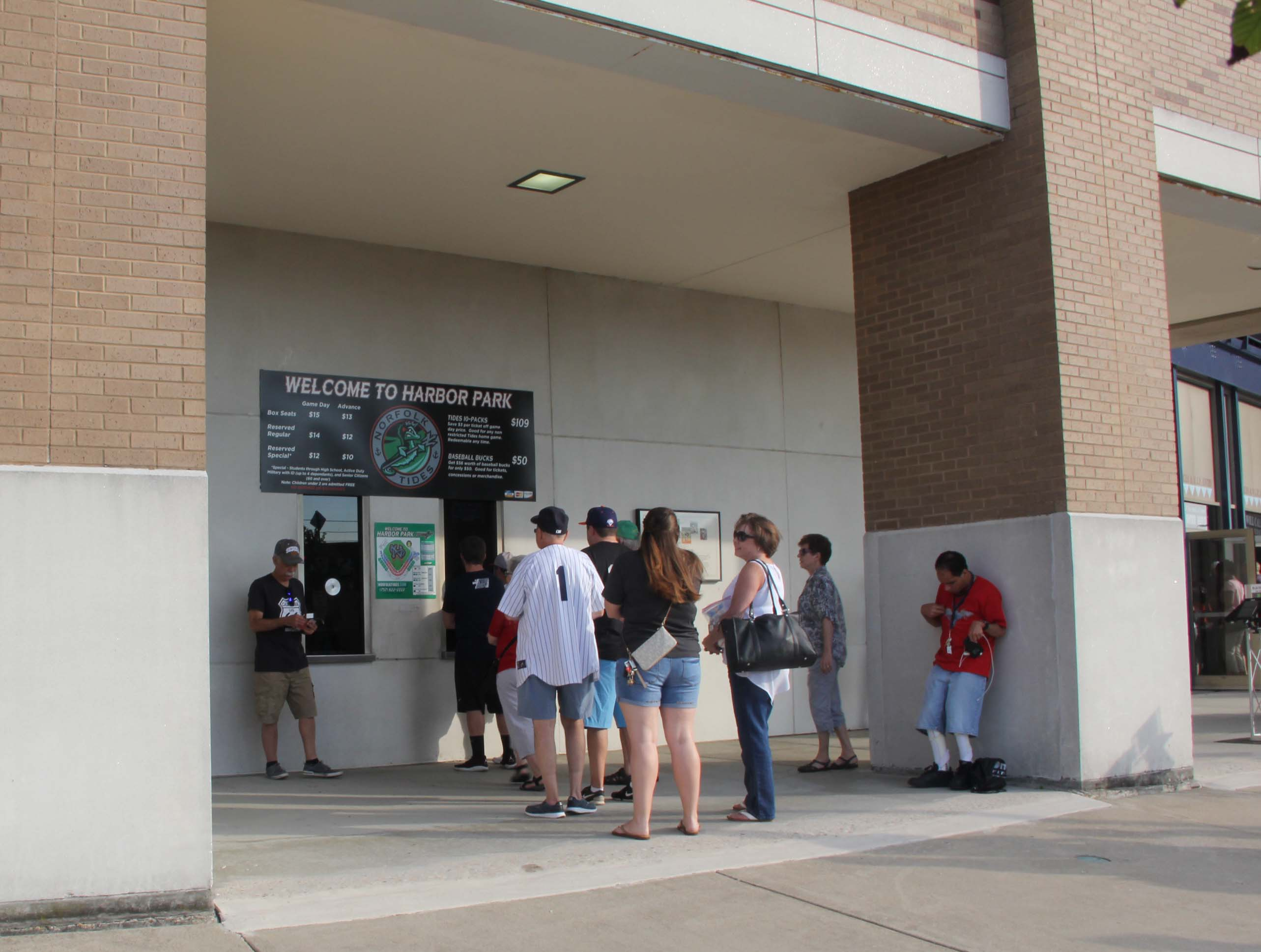 Harbor Park's box office will be expanded this offseason. (MEDILL/Jenna West)
