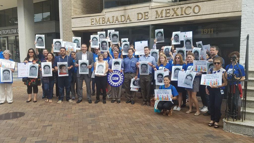 Vigil at Mexican Embassy Honors 43 Missing Students and Earthquake Victims
