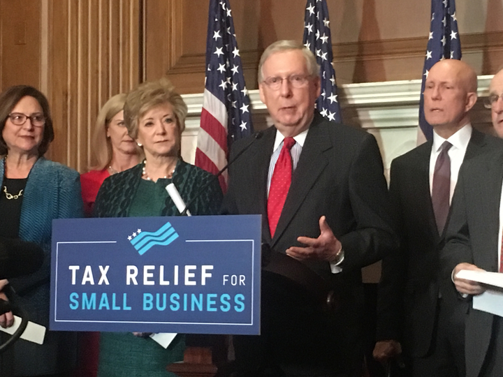 Senate Republicans and Small Business Leaders Advocate for GOP Tax Plan