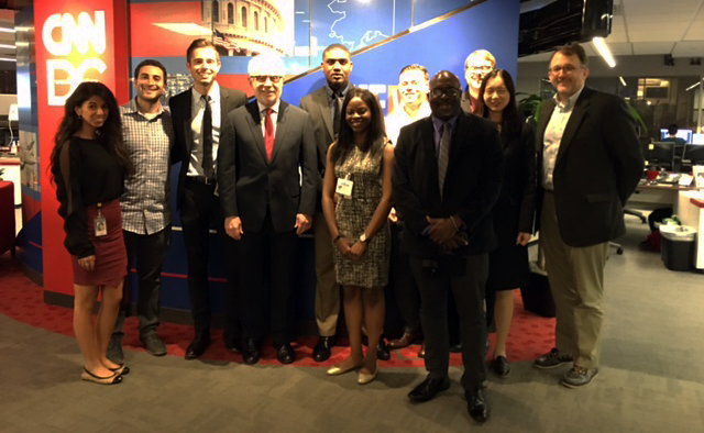 Students visit Blitzer & CNN