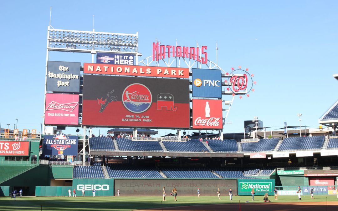 Democrats beat Republicans 21-5 at annual congressional baseball game, but all eyes belonged to Scalise