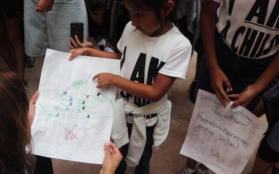 Children Demand Reunification of Families Across the Border