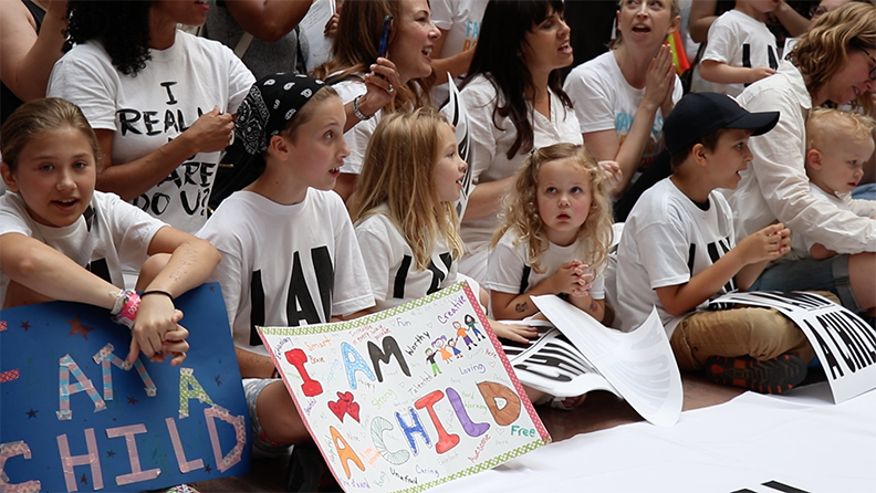 Children protest immigration policy on Capitol Hill