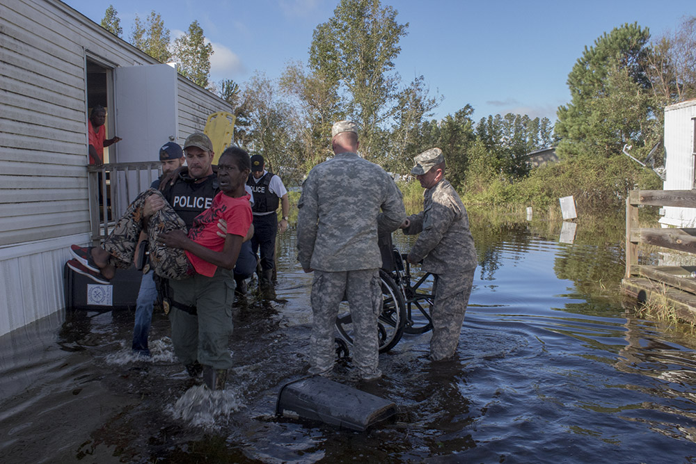 National Guard Provides Relief Following Hurricane Florence