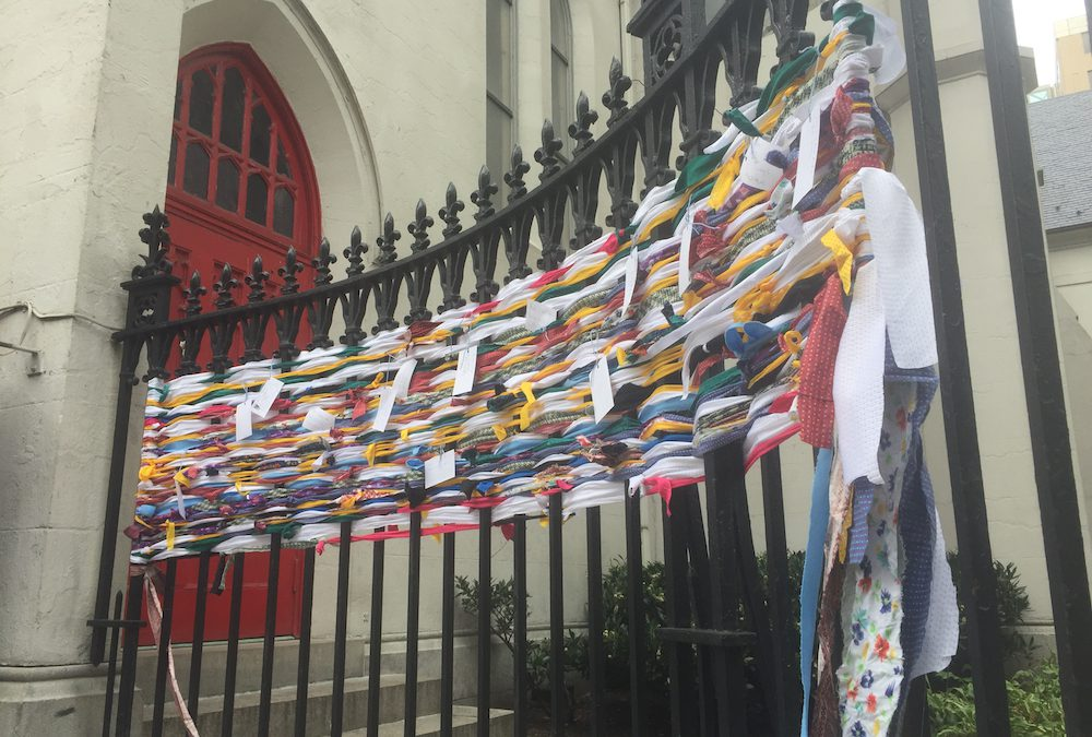 Church of the Epiphany weaves work of art for National Homeless Week