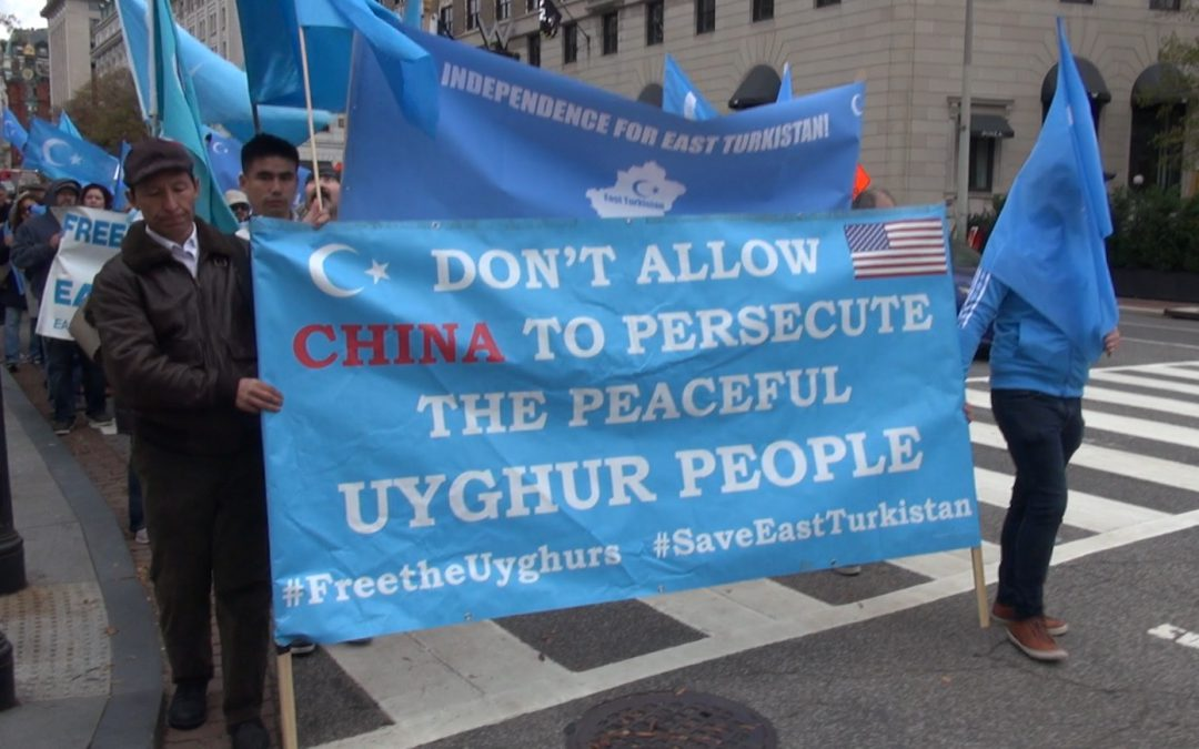 VIDEO: Uighur protest the imprisonment and torture of Muslims in China.