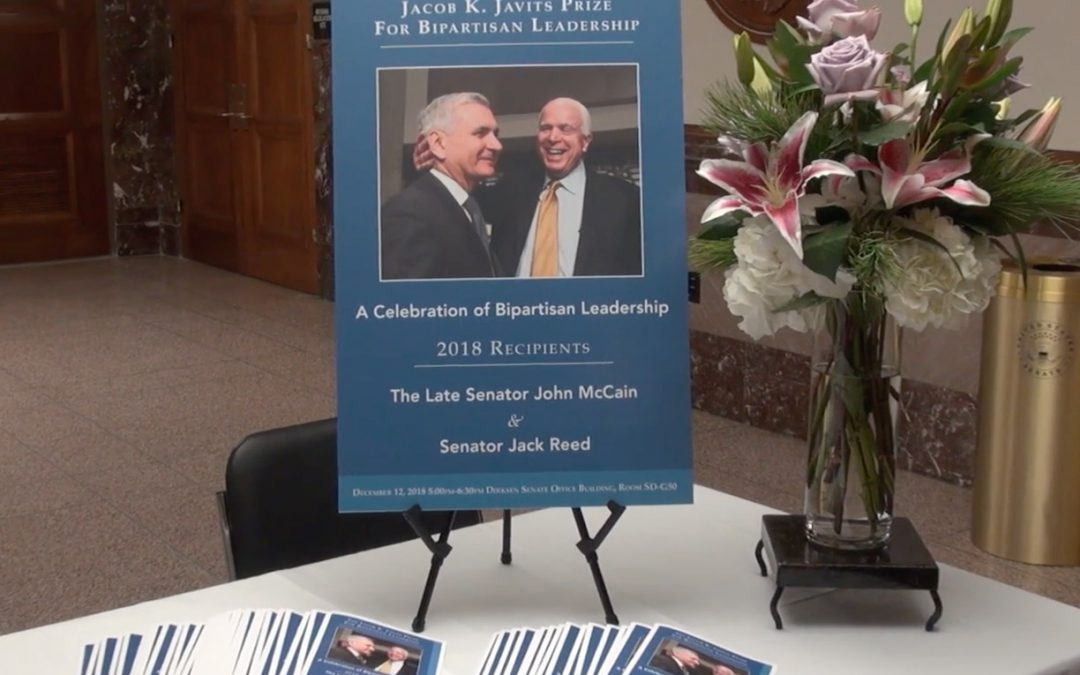 VIDEO: Sens. McCain and Reed honored with the Jacob K. Javits Bipartisan Leadership Prize