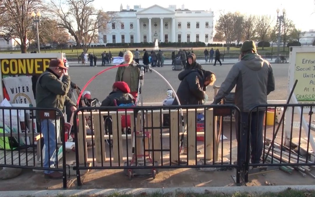 VIDEO: 37-Year White House Vigil Gets Moved Away and Moved Back