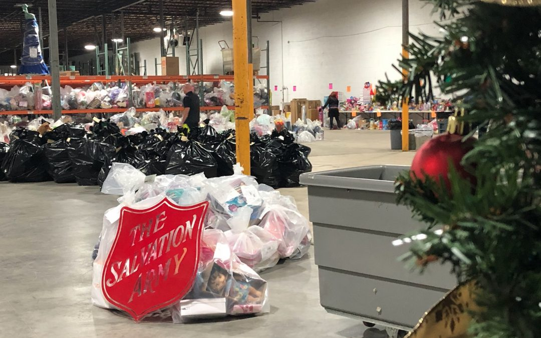 VIDEO: Volunteers help the Salvation Army organize over a thousand gifts